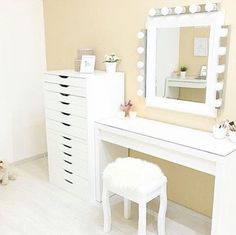 IKEA Malm Dressing Table & Alex Drawers
