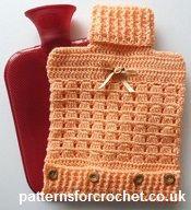 Free crochet pattern hot water bottle cover usa