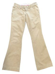 Abercrombie & Fitch Flare Pants Khaki