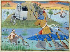Robinet Testard. Neptune et les sirànes, 1498