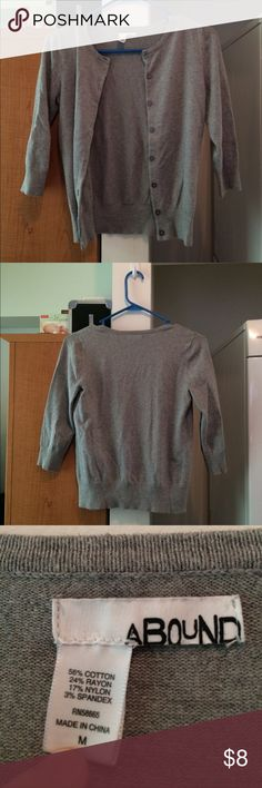 Gray Cardigan - Medium Great condition, 3/4 sleeve, light gray Cardigan. Abound Sweaters Cardigans