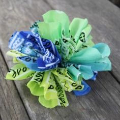 How to make a simple flower out of a bandana!