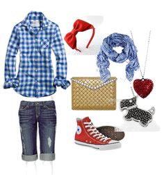 Modern-day/hip-hop Dorothy costume. Just add braids and a dog in a basket.
