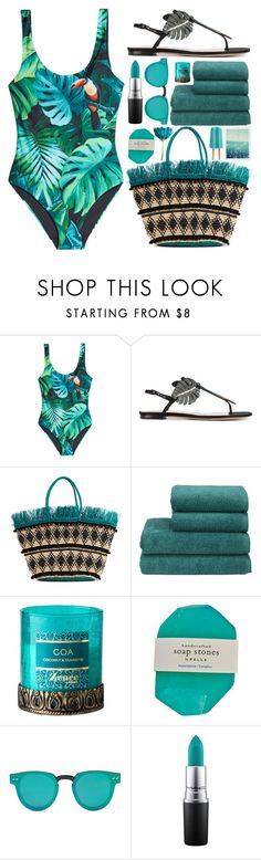 """""""off 432"""" by juuliap ❤ liked on Polyvore featuring ONIA, Valentino, Sensi Studio, Christy, Forever 21 and MAC Cosmetics"""