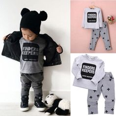Newborn Infant Kids Baby Boys Letter T-shirt Pants Outfits Clothes Set Baby Boys Clothes Set Boys Clothing Set Toddler Boy Fashion, Little Boy Fashion, Toddler Boy Outfits, Kids Fashion, Latest Fashion, Little Boy Outfits, Outfits For Teens, Pants Outfit, Outfit Sets