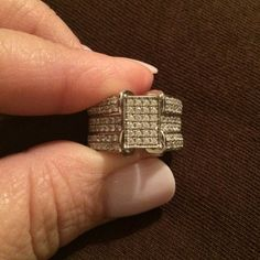 """Selling this """"Beautiful Ring silver 925 and CZ. Size 6"""" in my Poshmark closet! My username is: vrivera986. #shopmycloset #poshmark #fashion #shopping #style #forsale #Jewelry"""