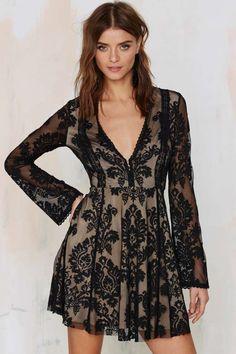 Romantics Lace Dress - Black - Best Sellers | Back In Stock | Dark Romance | Dark Romance | Going Out | Fit-n-Flare | Dresses