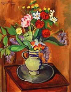 ❀ Blooming Brushwork ❀ - garden and still life flower paintings - Suzanne Valadon | Vase of Flowers, 1930