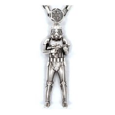 Star Wars Classic Stormtrooper Sterling Silver Necklace - Han Cholo - Star Wars - Jewelry at Entertainment Earth Star Wars Shop, Star Wars Jedi, Star Wars Rebels, Star Wars Jewelry, Star Wars Quotes, Trendy Fashion Jewelry, Jewelry Show, Disney Star Wars, Clone Wars