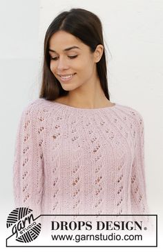 Spinning ribbons / DROPS - free knitting patterns by DROPS design Spinning ribbons / DROPS - free knitting patterns by DROPS design History of Knitting Wool spinning, weaving and . Drops Design, Knitting Designs, Knitting Patterns Free, Crochet Patterns, Lace Knitting, Knit Crochet, Jumpers For Women, Sweaters For Women, Warm Sweaters