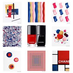 Totally in love with the Chanel tribute to some of my fav artists of all time done with new Le Vernis de Chanel.Chanel tribute to Victor Vasarely, Piet Mondrian,Jackson Pollock,Claude Viallat,Vassily Kandinsky,Sol leWitt, Alexander CalderKasimir Malevitch.