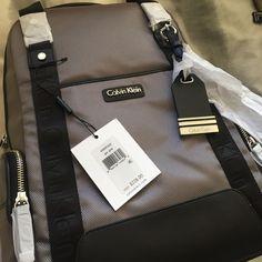 NWT Calvin Klein backpack Grey, simple and sleek! Nylon MAKE AN OFFER  Calvin Klein Bags Backpacks
