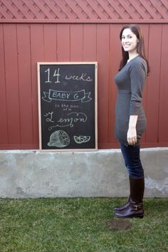 Baby G is 14 weeks!   Pregnancy chalkboard