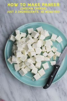 Make your very own paneer (Indian Cheese) at home with this easy recipe! Make a bunch & keep it frozen to use whenever needed!