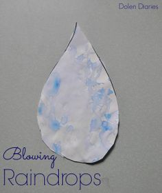 The perfect rainy day craft! Blowing Raindrops {Dolen Diaries}