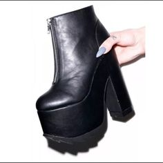 YRU Nightmare Ankle Boots Platforms 9 Worn once, small signs of wear $75 ️️ UNIF Shoes