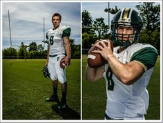 Sports senior picture - football