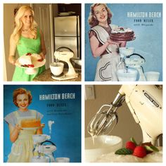 baking with a 1940 hamilton beach stand mixer. all the glamor & kitschy fun of domesticity in postwar america.