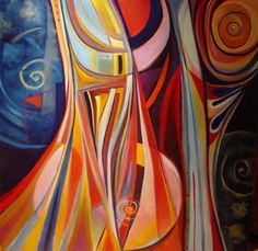 """Modern Art Paintings   Now availabe, an exclusive Giclee print of """"In the Middle"""""""