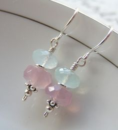 Little Baby Shades / Faceted Pastel Chalcedony Beads