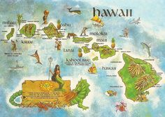 Find This Pin And More On U S By Cloudianchara Map Of Hawaiian Islands