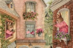 Risultati immagini per susan wheeler artist Susan Wheeler, Forest Creatures, Woodland Creatures, Beatrix Potter, Bunny Painting, Cottage Art, Bunny Art, Children's Book Illustration, Book Illustrations