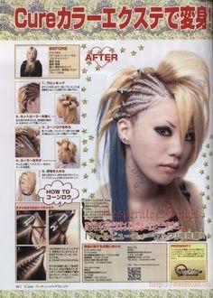 Visual-kei hair tutorial