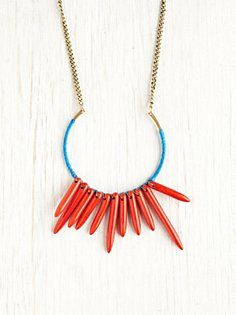 Horseshoe Thread Bead Necklace - Free People