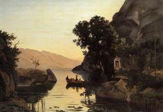 View at Riva, Italian Tyrol, 1835