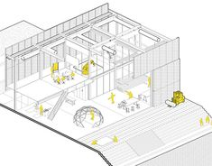 Axonometric View, New Work, Architecture Design, Behance, Diagram, Graphic Design, Gallery, Illustration, Projects