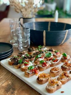 3 appetizers that start with a baguette. Make ahead and then the day of the party...assemble in under 5 minutes #makeahead #makeaheadappetizers #makeaheadholidaydishes