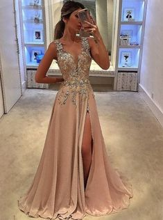 fashion prom party dresses with beaded, chic long evening gowns, beaded formal gowns.