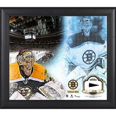 """Tuukka Rask Boston Bruins Fanatics Authentic Framed 15"""" x 17"""" Mosaic Collage with Piece Of Game-Used Puck-Limited Edition of 99 - $89.99"""