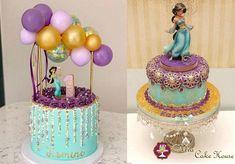 Jasmine Birthday Cake, Aladdin Birthday Party, 6th Birthday Cakes, Disney Birthday, Birthday Parties, Bolo Crossfit, Princess Jasmine Cake, Jasmin Party, Aladdin Cake