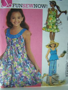 Girl's Sundress Sewing Pattern Girl's Top and by WitsEndDesign, $8.00