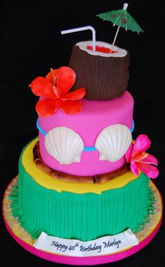1000 Images About Hawaii Cake On Pinterest Luau Cakes