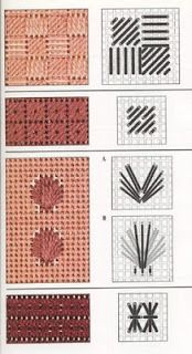 How to work on a needlepoint tapestry kit. Broderie Bargello, Bargello Needlepoint, Needlepoint Stitches, Plastic Canvas Stitches, Plastic Canvas Crafts, Plastic Canvas Patterns, Cross Stitch Embroidery, Embroidery Patterns, Stitch Patterns