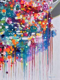 """Joyful Expectation"" Original mixed media painting by Stephen Lursen"