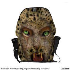 La bolsa de mensajero del carrito, mujer del leopa bolsas de mensajeria