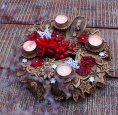 Advent Wreath, Christmas Wreaths, Pottery, Clay, Ceramics, Holiday Decor, Handmade, Home Decor, Christmas