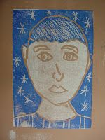 Mrs. Knight's Smartest Artists: Reductive printmaking: self-portraits
