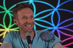 Chris Martin during Coldplay's #AHFODtour press conference in Mexico City