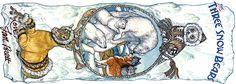 Jan Brett 3 Snow Bears Bookmark