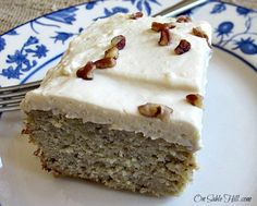 Grain Free Banana Cake with Maple Cream Cheese Frosting