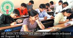 AP DEECET/DIETCET 2015: Admit cards released on August 16