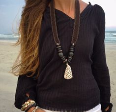Twine & Twig Shore Shell Necklace