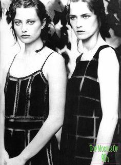 Alberta Ferretti Fall 1999 campaign featuring Noot Seear