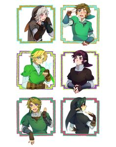 link and their dark counterparts. gotta love TP dark link sass lol