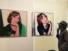 Me and Portrait of Madame Smith by Warhol.