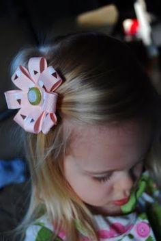 Easy Quick Hair Ribbon Bows - DIY Free Tutorial